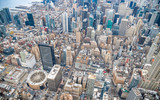 New York City from the sky, Manhattan view from helicopter - 247374533