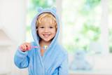 Child brushing teeth. Kids tooth brush. - 247374796