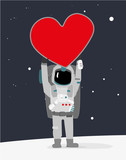 Astronaut with Big Heart