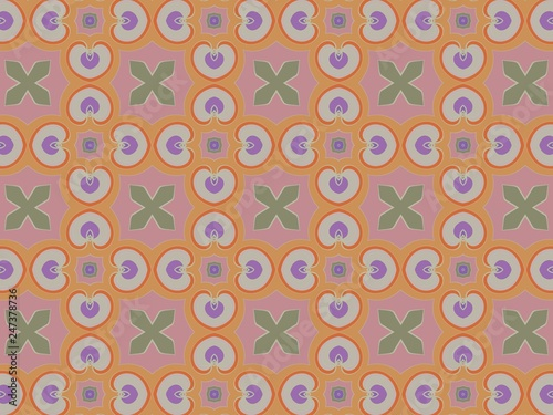 Luxury background with decorative geometric ornament. Retro creative design. geometric pattern in floral style. Simple fashion fabric print.  - 247378736