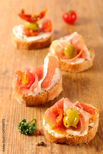 assorted spanish tapas - 247388972