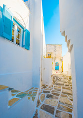 Typically rustic narrow paved passage in Greece © Alex Green