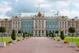 Facade close-up. Catherine Palace. Pushkin City. - 247392396