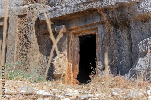 Tombs of the ancient city of Mira. Turkey - 247398727