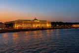 Bronze sunset on the Neva embankment in the city of St. Petersburg - 247401966