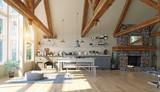 modern luxury house interior.