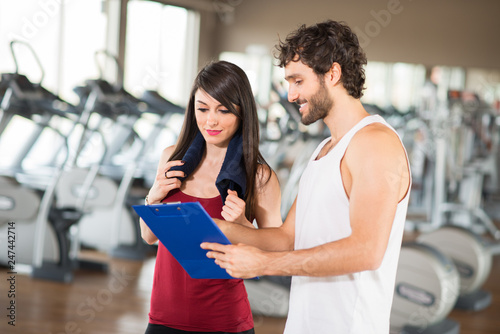 Fitness training program gym