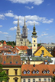 Zagreb, Roofs of the old town. Zagreb is the capital and the largest city of Croatia.