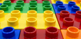 Plastic building blocks of some different colors  - 247475978