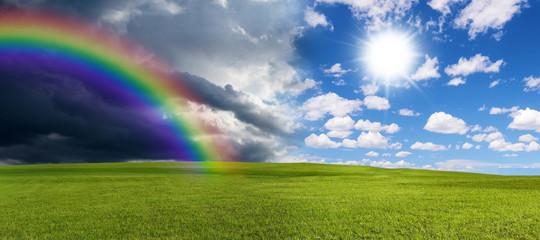 Rainbow and sun © Jürgen Fälchle