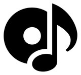 Music Disk Vector icon