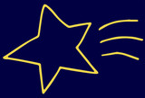 Yellow Hand-drawn star