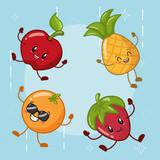emotions kawaii fruits