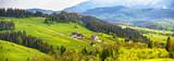 Poland spring Tatra mountains panorama