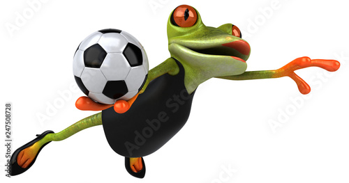 Leinwanddruck Bild Fun frog - 3D Illustration