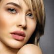 Leinwandbild Motiv  Woman with beauty face and clean skin.  Sexy blonde woman.