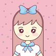 cute and little girl character - 247521144