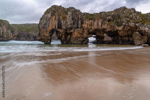 Cuevas del Mar beach, Asturias, Spain - 247522755