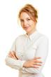 Leinwandbild Motiv Junge Geschäftsfrau mit verschränkten Armen