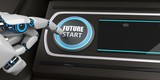 Robot Button Future Start Display