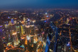 Quadro Shanghai, China - May 23, 2018: A night view from Shanghai tower to the modern skyline in Shanghai, China