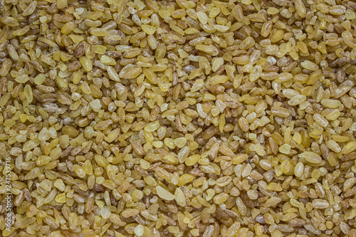 texture of bulgur cereal shallow and crumbly dietary and energy closeup - 247539716