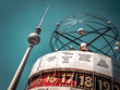 Leinwanddruck Bild - Berlin Television Tower, low angle
