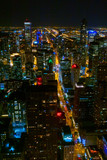 Chicago downtown skyscrapers aerial skyline panorama