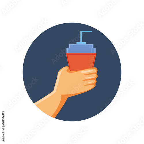 delicious beverage soda icon © djvstock