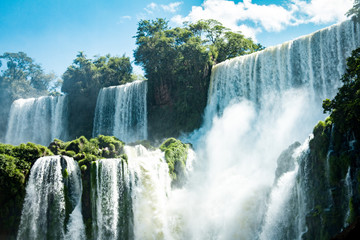 The Amazing waterfalls of Iguazu in Brazil