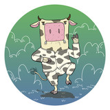 illustration of  cartoon Cow.