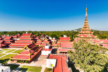 Der Königpalast in Mandalay
