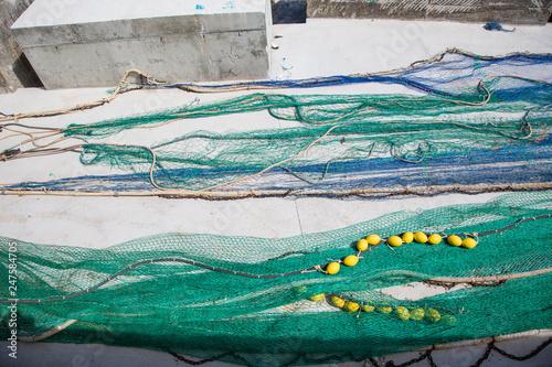 Fischernetze Hafen mediterran © st1909