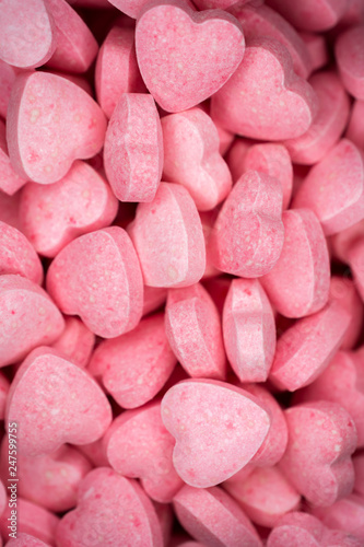 candy, love hart colorful closeup with background - 247599755