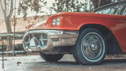fototapeta na ścianę Old Orange Car