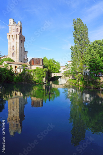 Day view of the landmark Specola Tower astronomical observatory, part of the old Castle of Padua in Padova, Italy  © eqroy