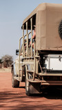 Safari Jeep, Fahrzeug in Namibia, hochkant