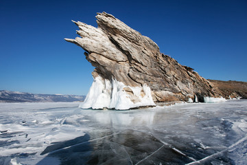 Lake Baikal, Ogoi island. Winter landscape