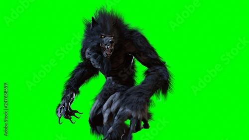Leinwandbild Motiv werewolf 3d render
