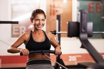 fitness girl exercising