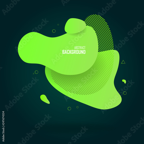 Liquid fluid color abstract shapes, abstract design background. Abstract vector gradient elements for logo, banner, post - 247674334