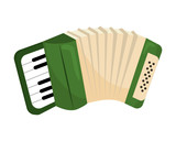music instrument accordion cartoon