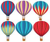 Set of hot air balloon - 247686521
