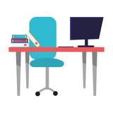 modern furniture cartoon - 247694316