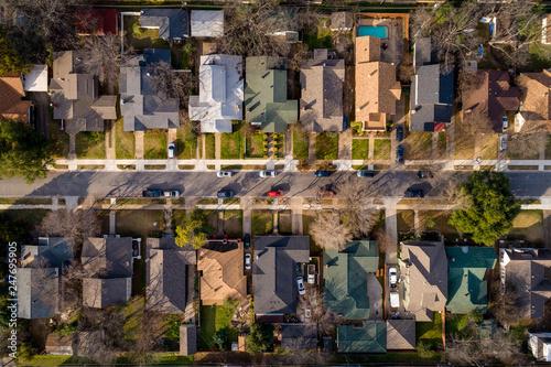 Birds Eye view of Mistletoe Heights in Fort Worth