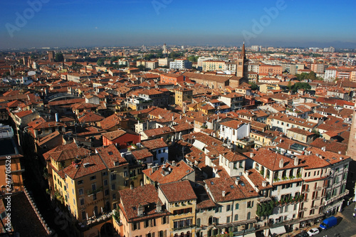 Panorama of the ancient city of Verona, Italy - 247705526