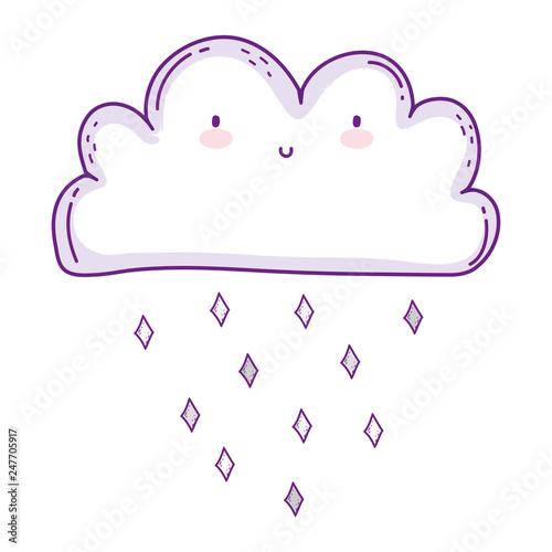 cute cloud kawaii character - 247705917