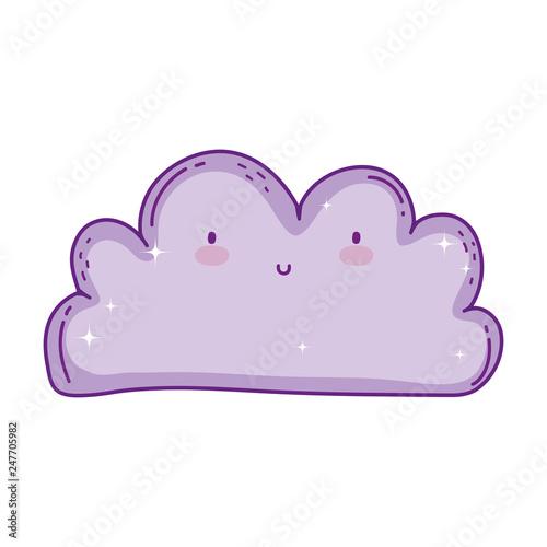 cute cloud kawaii character - 247705982