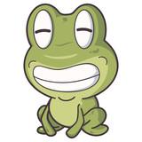 smile happy frog cartoon