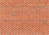 Red brick wall texture with white joints - 247719327